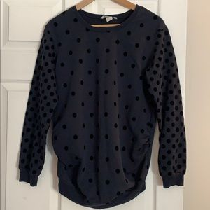 Dark Blue Maternity Sweatshirt